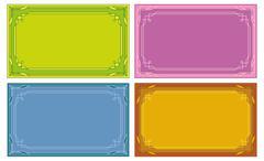 Color labels, tags, cards, set - stock illustration
