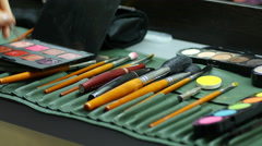 Make-up cosmetic tools Stock Footage