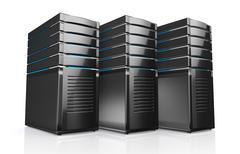 3d of network workstation servers. - stock illustration
