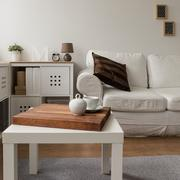Designed living room interior - stock photo