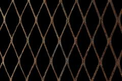 rusty expanded metal - stock photo