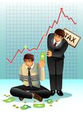 Concept of Paying Tax Stock Illustration