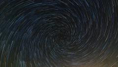 Spiral Star Trails Stock Footage