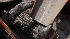 Detail's on concrete mixer. - stock footage