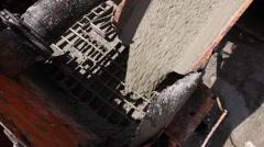 Detail's on concrete mixer. Stock Footage