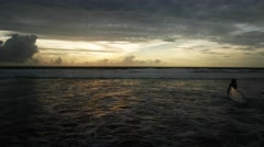 Scenic view of beautiful sunset above the sea Stock Footage