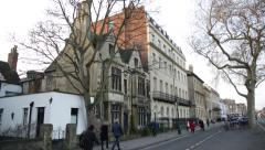 Oxford architecture: daily life, Oxford, England, Europe - stock footage