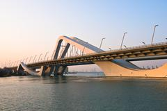 Sheikh Zayed Bridge, Abu Dhabi, UAE Stock Photos