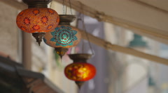 Beautiful view of colored censer in Sarajevo Stock Footage
