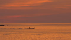 Longtail Boat in Golden Light Stock Footage