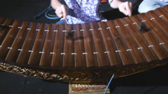 Ranat, Thai xylophone performing Stock Footage