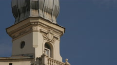 Tower of a building in Sarajevo - stock footage