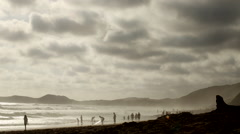 Beach wide Stock Footage