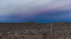 Dark clouds above the Karoo Stock Footage