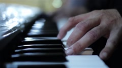 Hand to play piano, keyboards  Stock Footage
