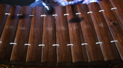 Ranat, Thai xylophone performing Stock Footage