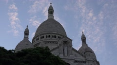 Stock Video Footage of 4K Sacre Coeur in Paris at Sunset, Sacré-Cœur Basilica the Famous French Church