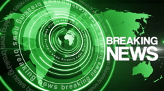 Abstract circle round breaking news background 4K space green Stock Footage