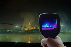 Petrochemical Plant Infrared Stock Photos