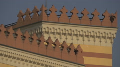 Roof decorations of National and University Library, Sarajevo Stock Footage
