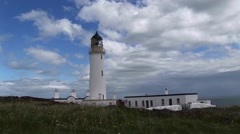 A lighthouse in the north os Scotland on the west coast. Stock Footage