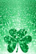 St Patricks Day Shamrock Background Stock Photos