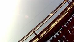 Railway bridge filmed from underneath  Stock Footage