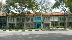 Residential townhouses in Singapore. UltraHD video - stock footage