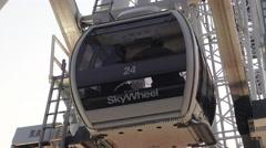 Close up of Niagara Skywheel, Niagara Falls, Canada Stock Footage