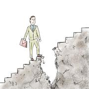 Difficulties and obstacles in career - stock illustration