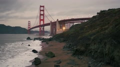 Aerial View Golden Gate Bridge San Francisco California Stock Footage