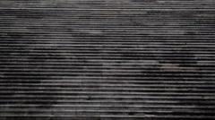 Portuguese parliament building steps, tilt up to guards, Lisbon, Portugal Stock Footage