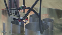 3d printer metal printing parts Stock Footage