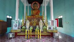 Beautiful interior of Wat Preah Prom Rath. UltraHD video Stock Footage