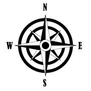 Compass rose icon Stock Illustration