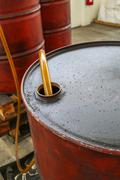 Stock Photo of Chemical Storage Drums, Barrels Tank.