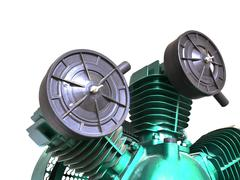 Stock Photo of Industrial air compressor