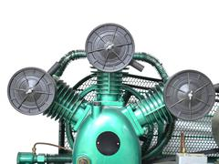 Industrial air compressor Stock Photos