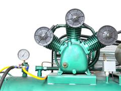Industrial air compressor Stock Photos