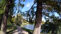 Grotto. Pushkin. Catherine Park. Tsarskoye Selo. 4K. Stock Footage