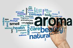 Aroma word cloud concept Stock Illustration