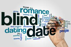 Blind date word cloud concept Stock Illustration
