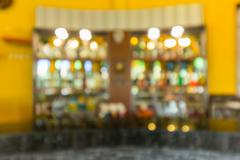 Defocus of beverage and alcohol on shelf Stock Photos