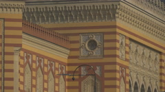 Decorations on the facade of National and University Library, Sarajevo Stock Footage