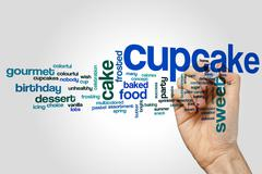 Cupcake word cloud concept Stock Illustration