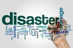 Disaster word cloud concept Piirros