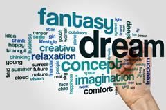 Imagination word cloud concept Stock Illustration