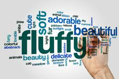Fluffy word cloud concept - stock illustration