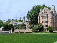 Yale University campus, gothic revival architecture - stock photo