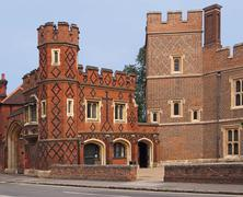 Eton College, England, exterior walls Stock Photos